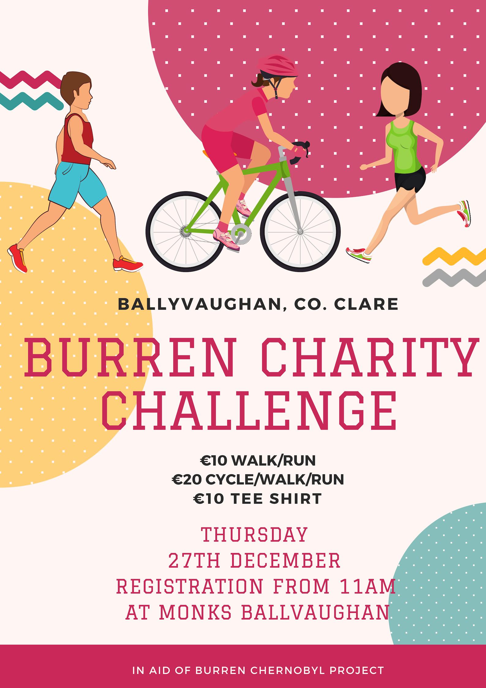 Burren Charity Challenge Poster
